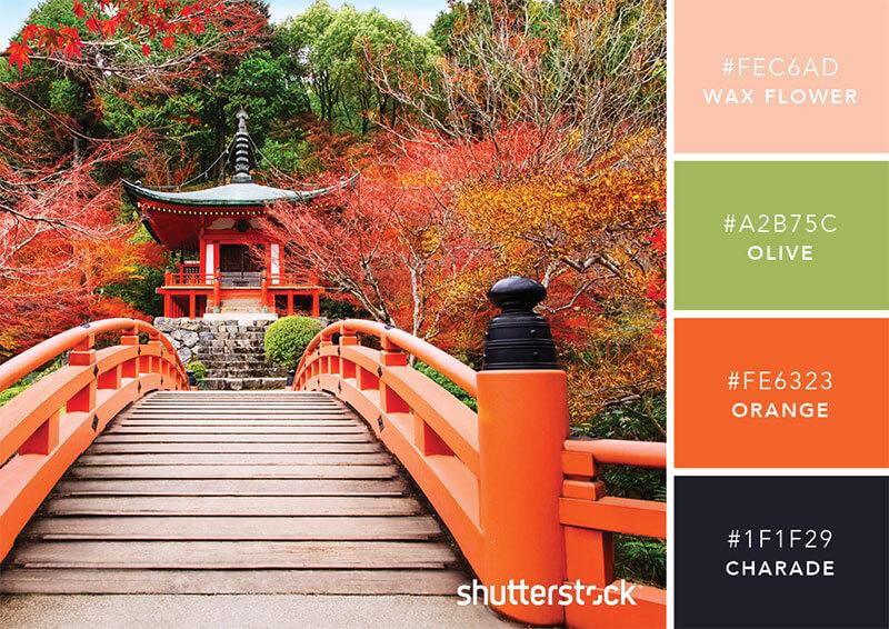 カラーパレット:JAPANESE GARDENS